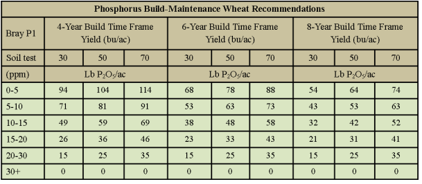 wheat phosporus guidelines